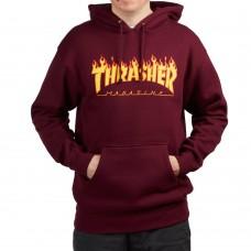 Sudadera Thrasher Flame Maroon