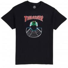 Camiseta Manga Corta Thrasher Doubles Negra