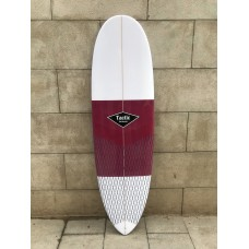 Tabla Surf Epoxy Tactic 6'4 Round Pin Blanca Granate