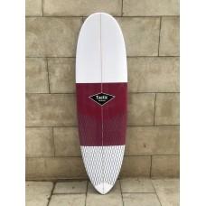 Tabla Surf Epoxy Tactic 6'4 Pin Blanca Granate