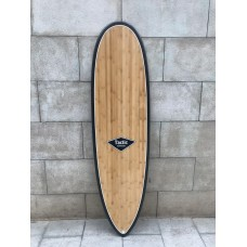 Tabla Surf Epoxy Tactic 6'8 Round Pin Bamboo Negra