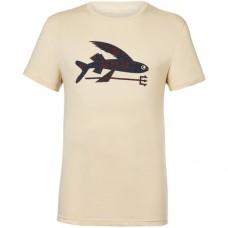 Camiseta Manga Corta Patagonia Flying Fish Organic Oyster White