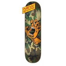 Tabla Skate Santa Cruz  SCREAMING HAND CAMO WIDE TIP 8.25 X 32
