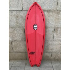 Tabla Surf Banana Shapes Fish N Banana Chips 5'8 Roja