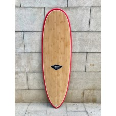 Tabla Surf Epoxy Bamboo Tactic Scorpion 6'6 Roja