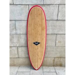 Tabla Surf Epoxy Bamboo Tactic Scorpion 6'4 Roja