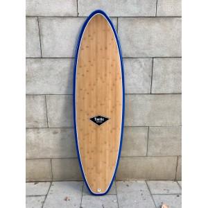 Tabla Surf Tactic Evolutiva Epoxy Bamboo 6'8 Azul