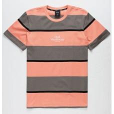 Camiseta Manga Corta HUF Mazon Stripe Rosa