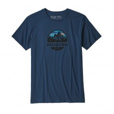 Camiseta Manga Corta Patagonia Fitz Roy Scope Organic Azul
