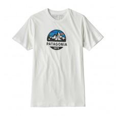 Camiseta Manga Corta Patagonia Fitz Roy Scope Organic Blanca