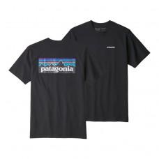 Camiseta Manga Corta Patagonia P6 Logo Negra