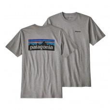 Camiseta Manga Corta Patagonia P6 Logo Gris