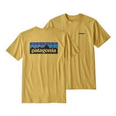 Camiseta Manga Corta Patagonia P6 Logo Amarilla