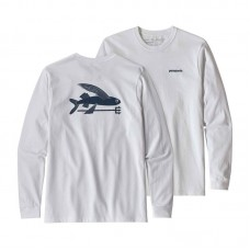 Camiseta Manga Larga Patagonia Flying Fish Blanca
