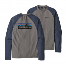 Camiseta Manga Larga Patagonia P-6 Logo Lightweight Feather Grey