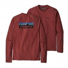 Camiseta Manga Larga Patagonia P-6 Logo Oxide Red