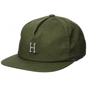 Gorra HUF Washed Metal H Striped Verde