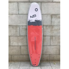 Tabla Surf Evolutiva Manual Pro Soft 7'6 Roja Gris Blanca