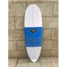 Tabla Surf Epoxy Tactic 6'2 Round Pin Blanca Azul