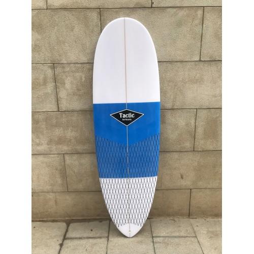 Tabla Surf Epoxy Tactic 5'10 Pin Blanca Azul