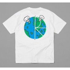 Camiseta Manga Corta Polar World Fill Logo Blanca