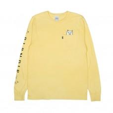 Camiseta Rip N Dip Manga Larga Lord Nermal Amarilla