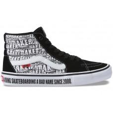 Zapatillas Vans x Baker SK8 Hi Pro Negras Blancas