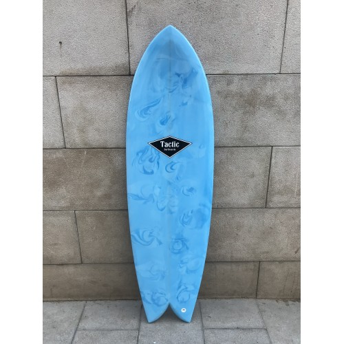 Tabla Surf Tactic Retro Fish 5'10 Azul