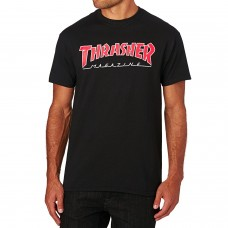 Camiseta Manga Corta Thrasher Outlined Negra