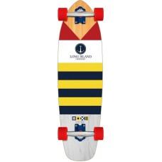 "Mini Longboard Completo Long Island Flag 32.9"""