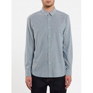 Camisa Manga Larga Volcom Oxford Stretch Rincon Blue