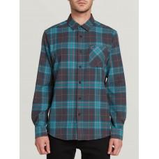 Camisa Volcom Caden Plaid Asphalt Black