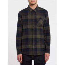 Camisa Manga Larga Volcom Caden Plaid Army Green