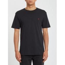 Camiseta Manga Corta Volcom Stone Blanks Negra
