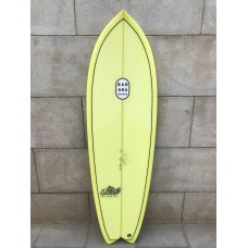 Tabla Surf Banana Shapes Fish N Banana Chips 5'6 Amarilla