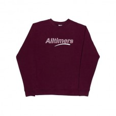 Sudadera Alltimers Estate Crew Granate