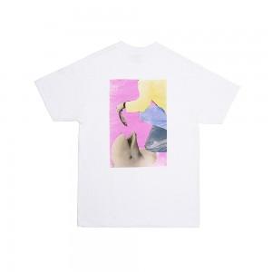 Camiseta Manga Corta Alltimers Fish Feed Blanca