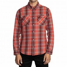 Camisa Manga Larga RVCA That'll Work Fall Roja