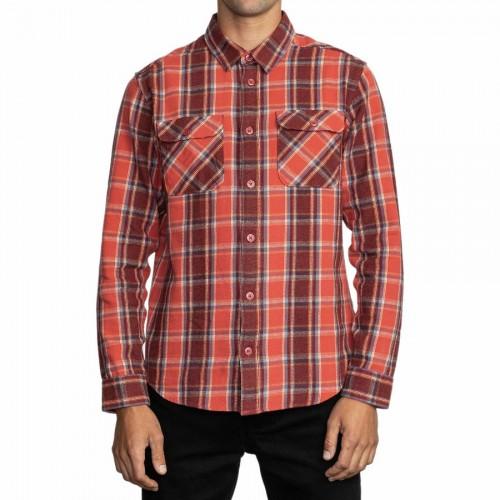 Camisa Manga Larga RVCA That'll Work Fall Roja