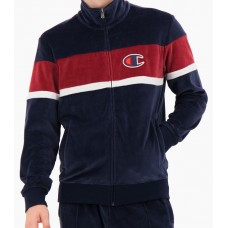 Sudadera Champion Zip-Up Velour Colour Block Tracj Jacket Azul Roja