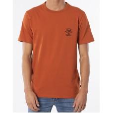 Camiseta Manga Corta Rip Curl Searchers Crafted Naranja