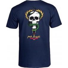 Camiseta Manga Corta Powell Peralta Mcgill Skull & Snake Azul