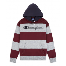 Sudadera Champion Striped Contrast Hood Oversized Gris Granate