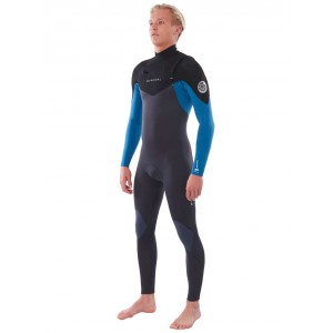 Traje Neopreno Rip Curl Dawn Patrol Chest Zip 4/3 Blue 2021