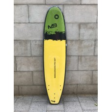 Tabla Surf Evolutiva Manual Pro Soft 7'6 Amarilla Negra Verde