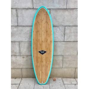 Tabla Surf Tactic Evolutiva Epoxy Bamboo 7'0 Verde