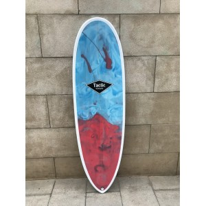 Tabla Surf Epoxy Tactic 6'8 Pin Azul Roja