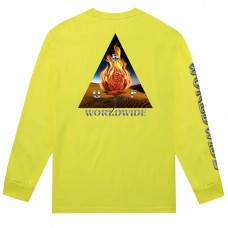 Camiseta Manga Larga Huf Ember Rose Triple Triangle Lima