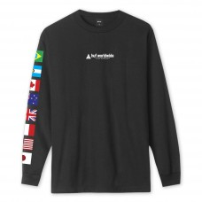 Camiseta Manga Larga HUF Flag Union Negra