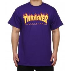 Camiseta Thrasher Flame Lila